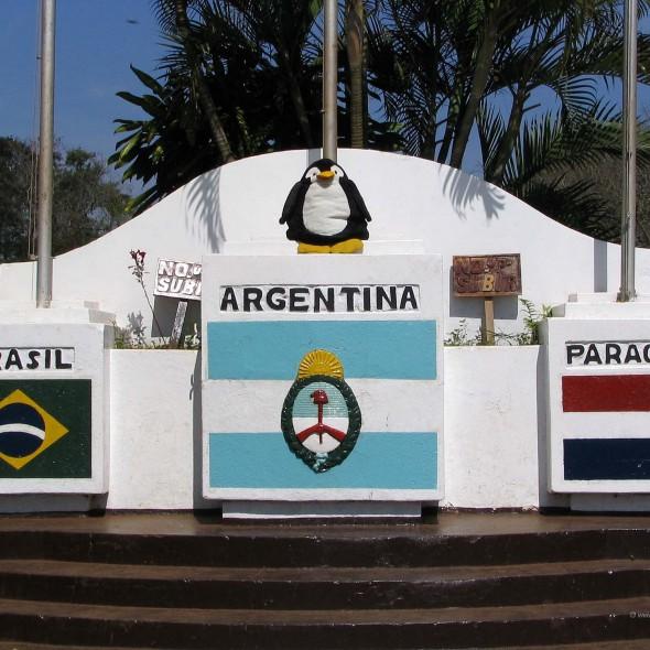 Dreiländereck in Südamerika