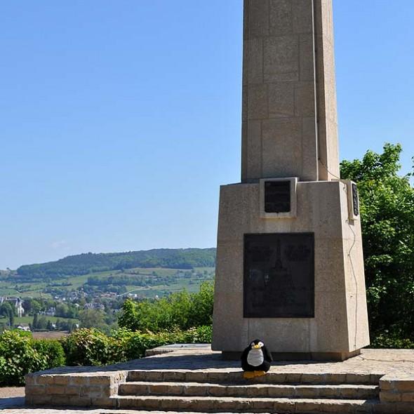 Stele am Mittelpunkt von Luxemburg