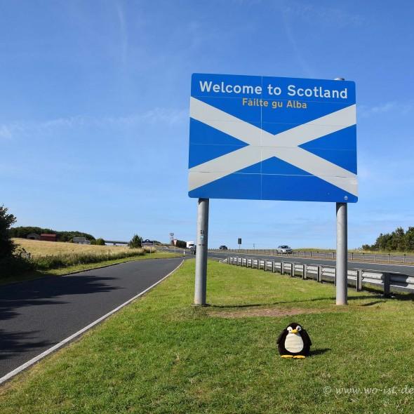Grenze zwischen England und Schottland