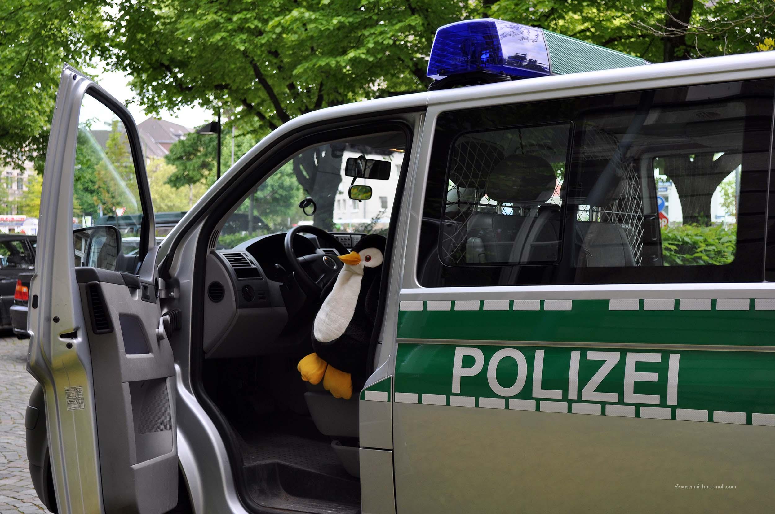 Im Polizeiwagen