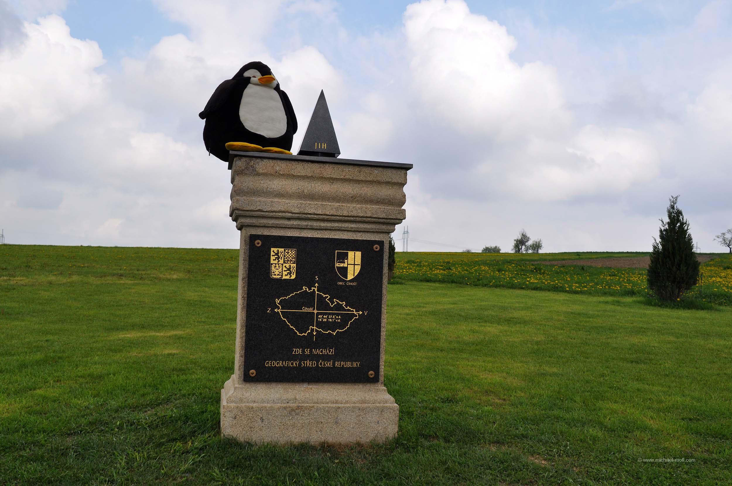 Geografischer Mittelpunkt Tschechien