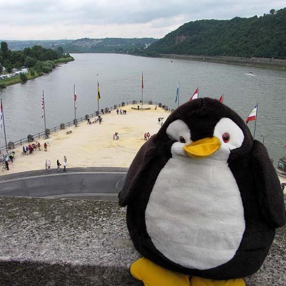 Moselmündung in Koblenz
