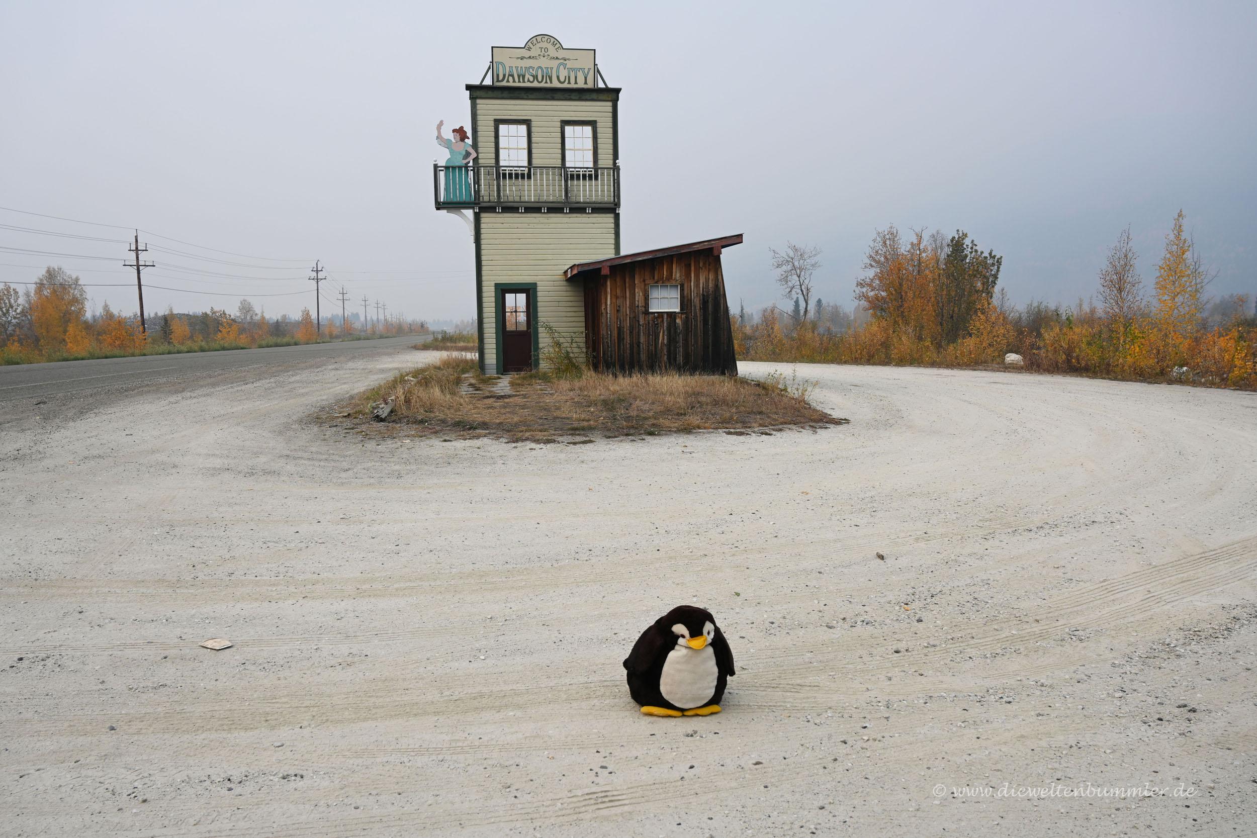 Ortseingang von Dawson City