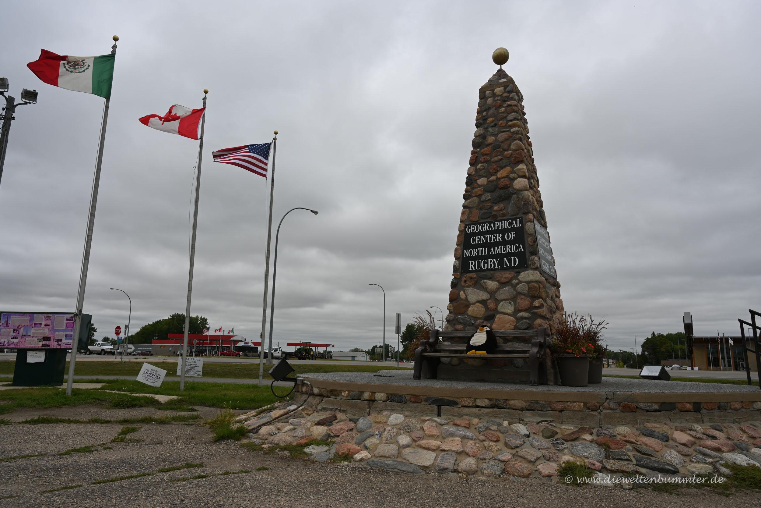 Geografischer Mittelpunkt von Nordamerika